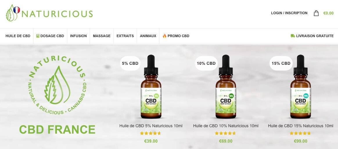 naturicious meilleur site cbd