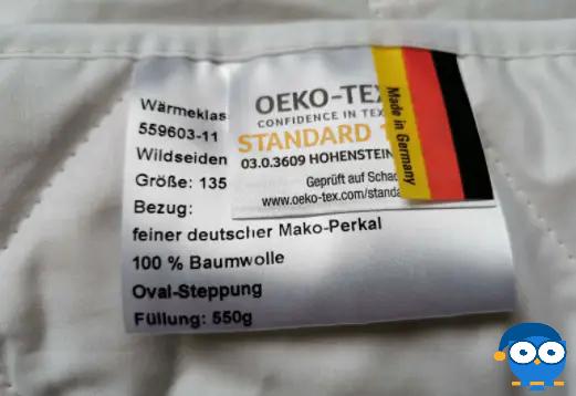 Besonders ist: Die Böhmerwald Sommerdecke ist nach Oeko-Tex zertifiziert. Foto: © Matratzencheck24