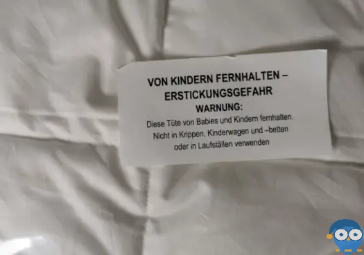 Halte das Verpackungsmaterial von Kindern fern. Foto: © Matratzencheck24