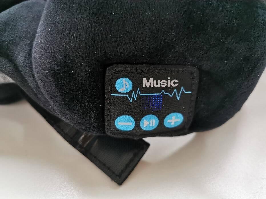 Mit dem Schlafkopfhörer kannst Du Musik abspielen