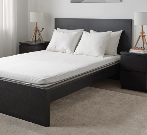 IKEA Malfors on bed frame