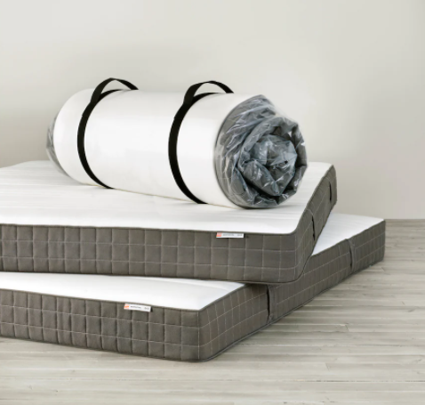 IKEA Morgedal mattress rolled up