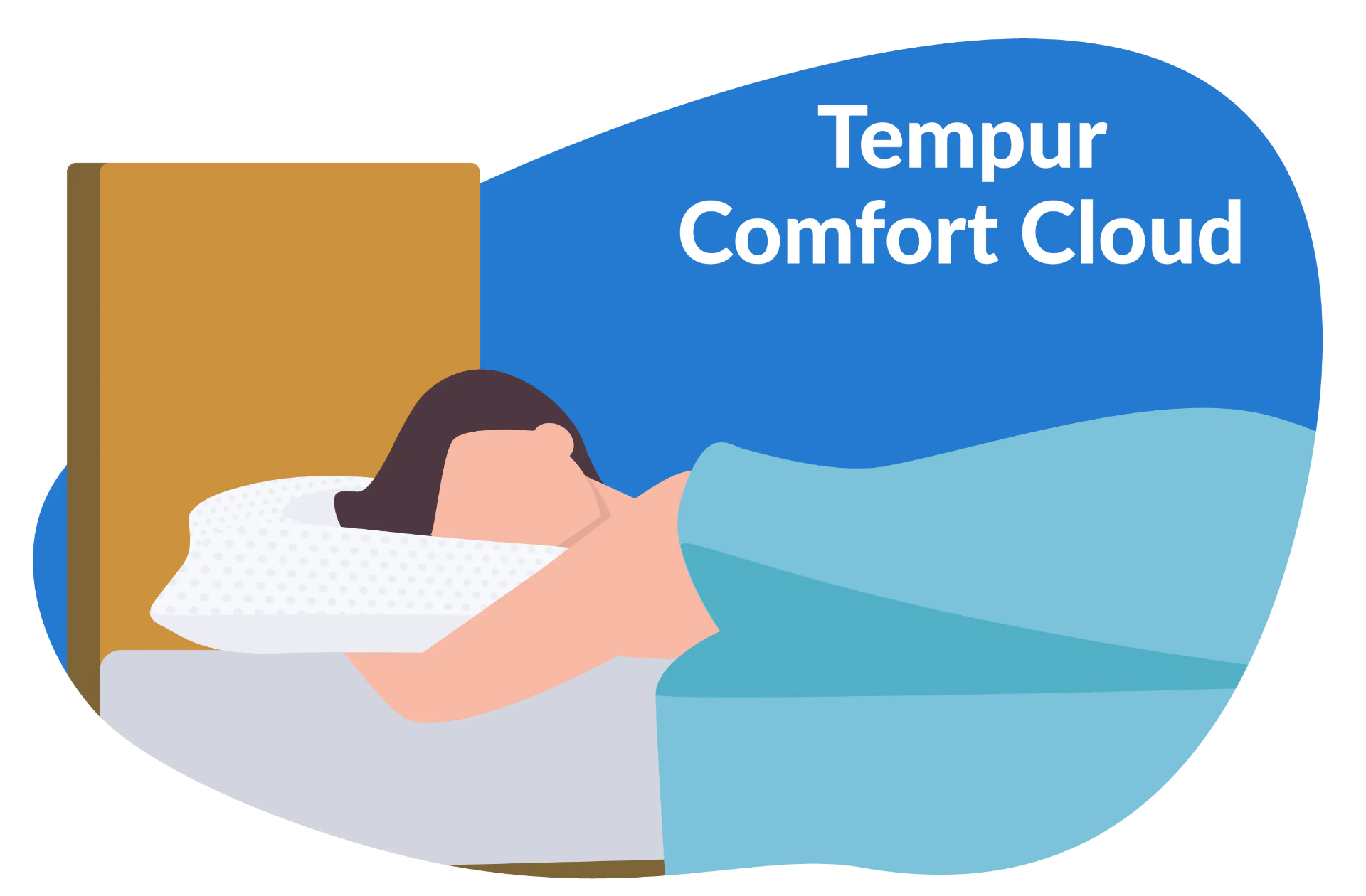 person laying on Tempur comfort cloud